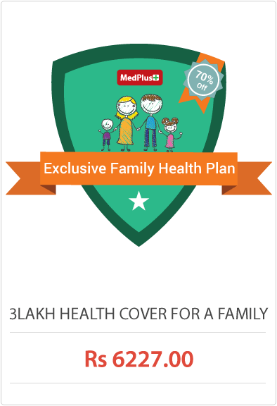 3lakh health cover for a family Rs.6227