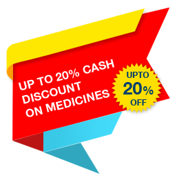 Up to 20% Cash Discount on Medicines